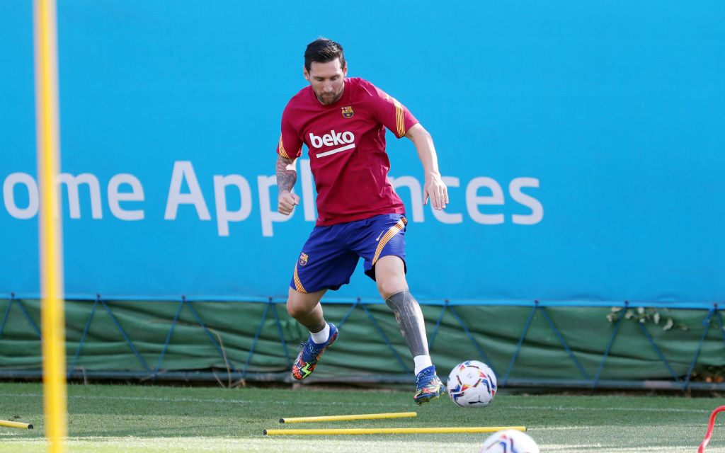 Messi Returns For Barca, First To Arrive Training Ground On Monday