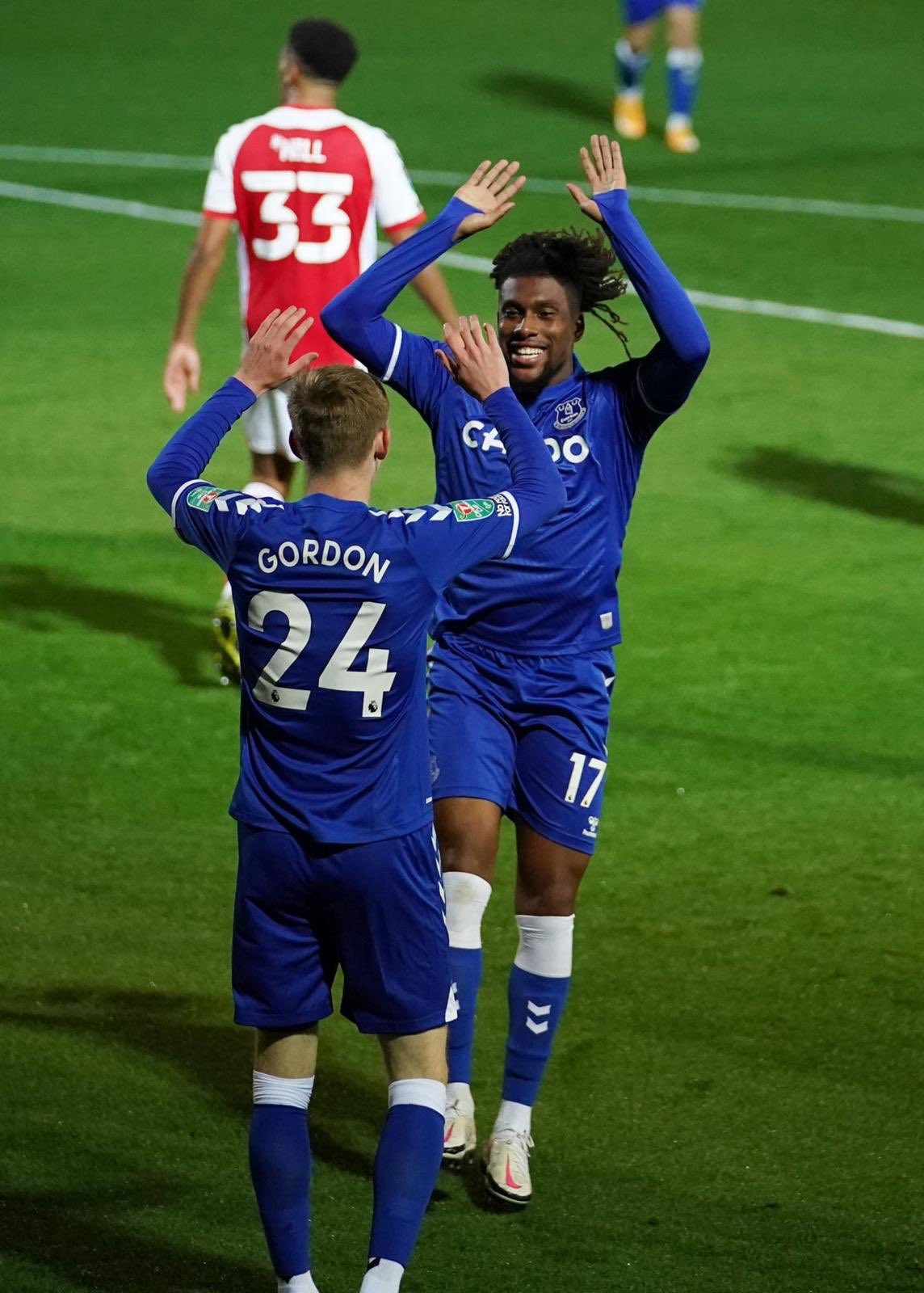 Carabao Cup: Iwobi Scores, Assist In Everton's Win Vs Fleetwood Town; Iheanacho Suffers Defeat With Leicester At Home To Arsenal