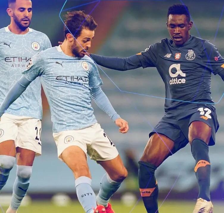 UCL: Sanusi, Onyeka In Action As Porto, Midtjylland Lose To Man City, Atalanta