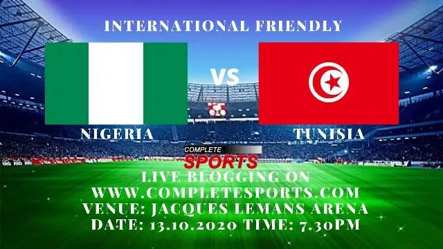 Live Blogging: Nigeria Vs Tunisia (International Friendly)
