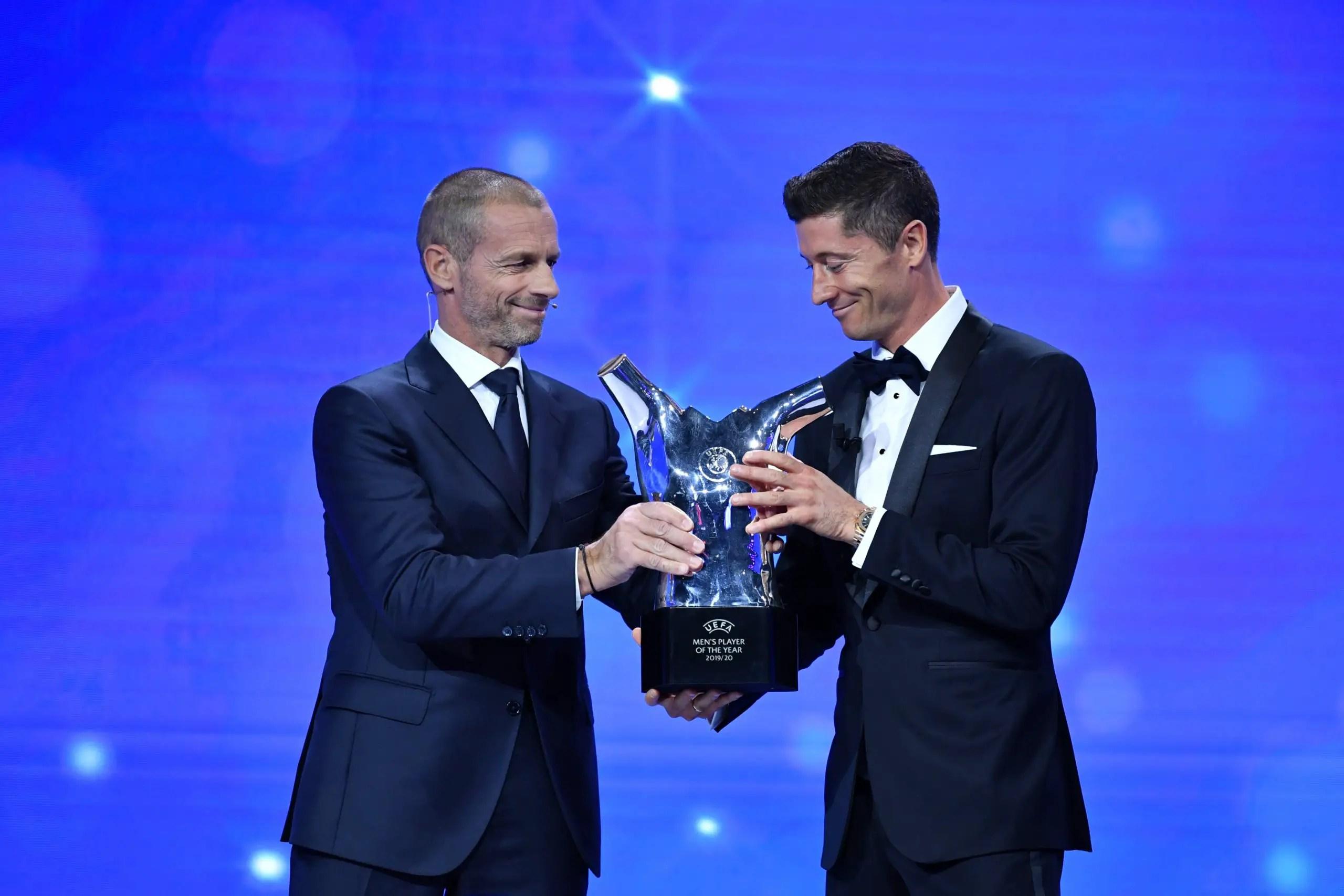 Bayern Munich Star Lewandowski Voted UEFA Men's Player Of The Year