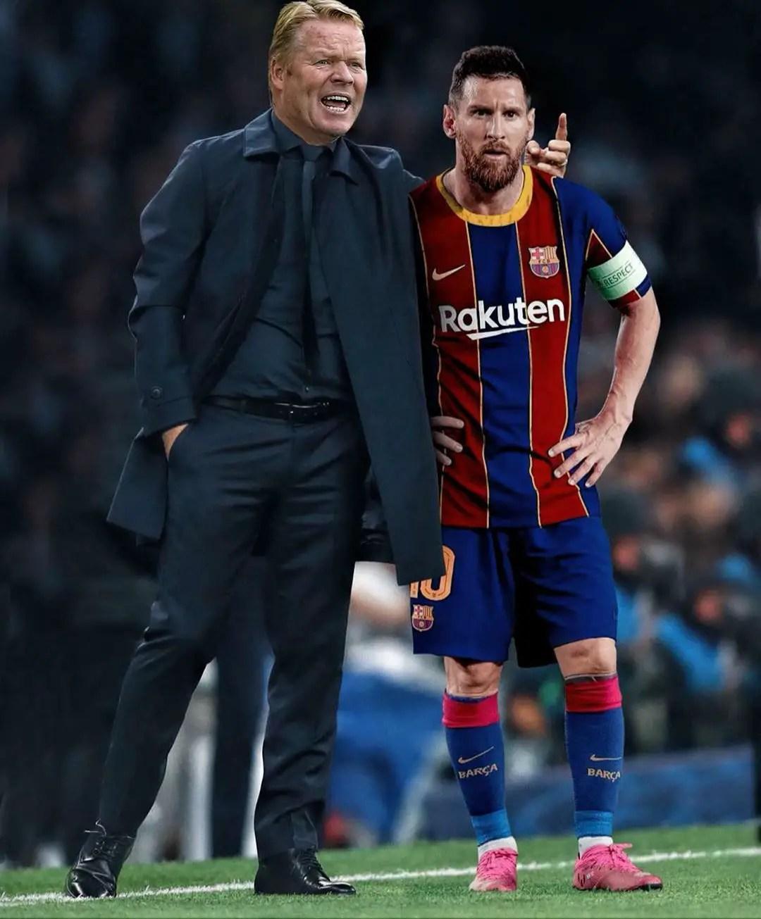 Koeman Calms Barcelona Tide, Cools  Messi's Outburst Over Suarez's Exit