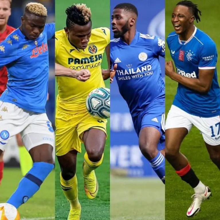 Osimhen, Chukwueze, Iheanacho, Aribo Headline Eagles' Europa League Charge Tonight