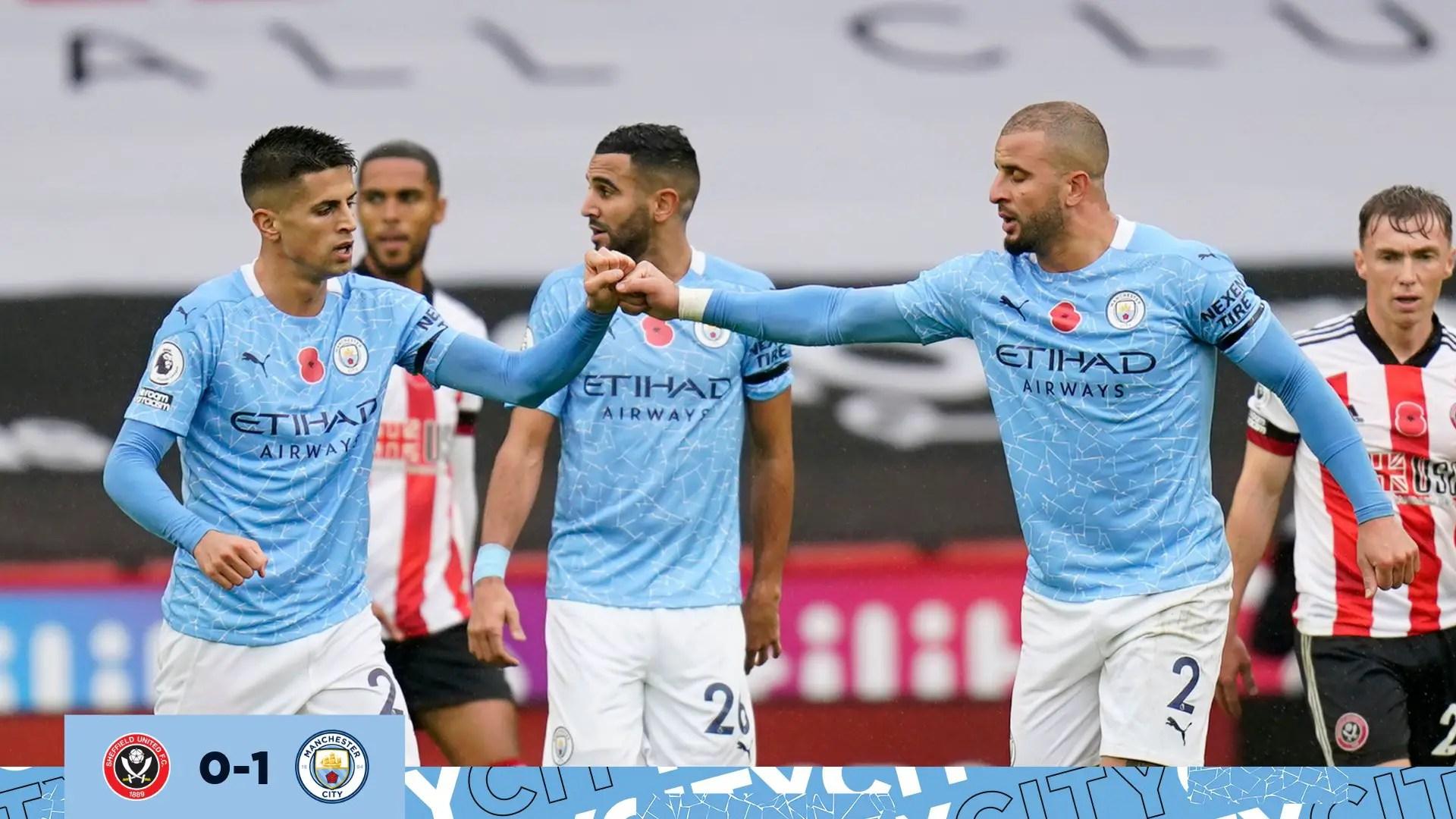 Premier League:  Walker On Target As Man City Secure Narrow Win Against Sheffield  United