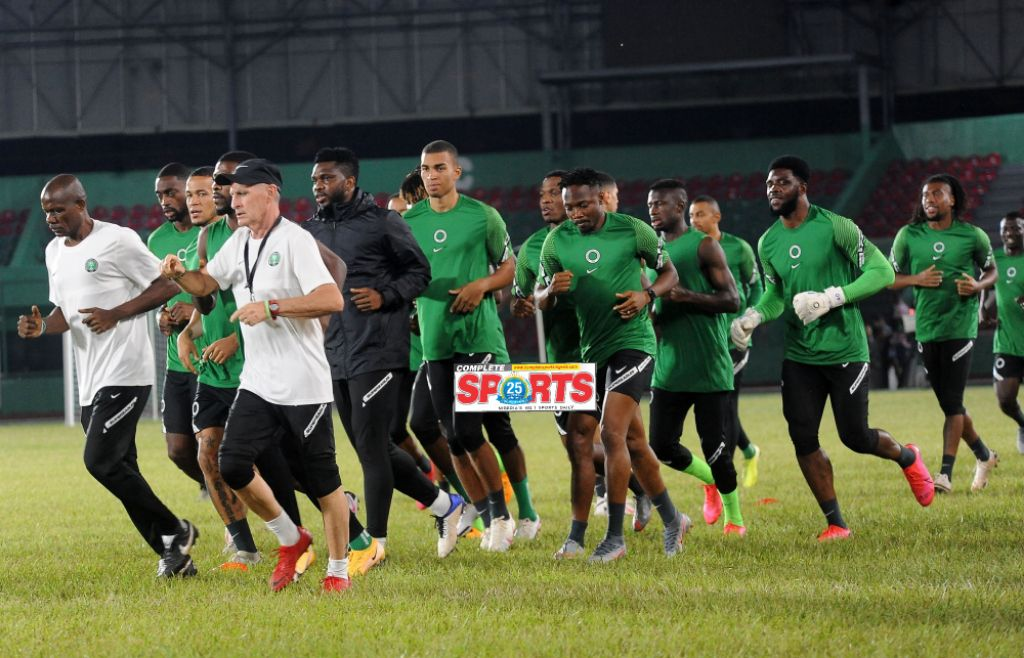 2021 AFCON Qualifier:Super Eagles Players Test Negative For Covid-19
