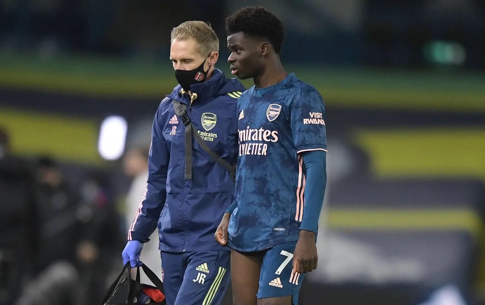 Arsenal Sweating On Saka Injury  Ahead Wolves Clash