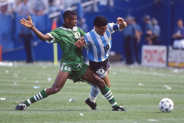 Oliseh: Marking Maradona At USA '94 World Cup Was Tough