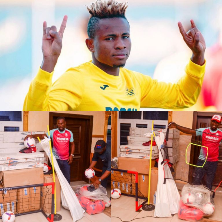 Chukwueze Donates Multi-million Naira Equipment To Support Grassroots Football