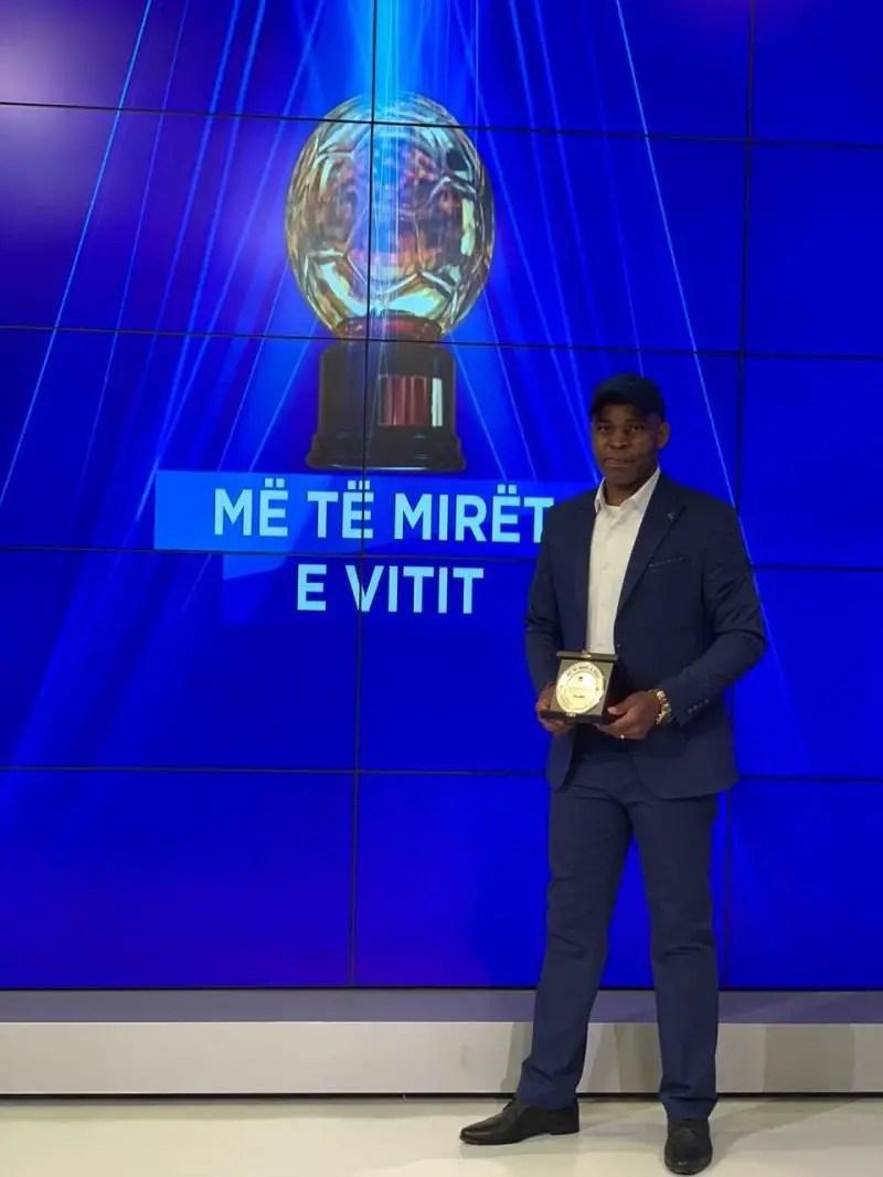 Ndubuisi Egbo Wins Coach Of The Year Award In Albania
