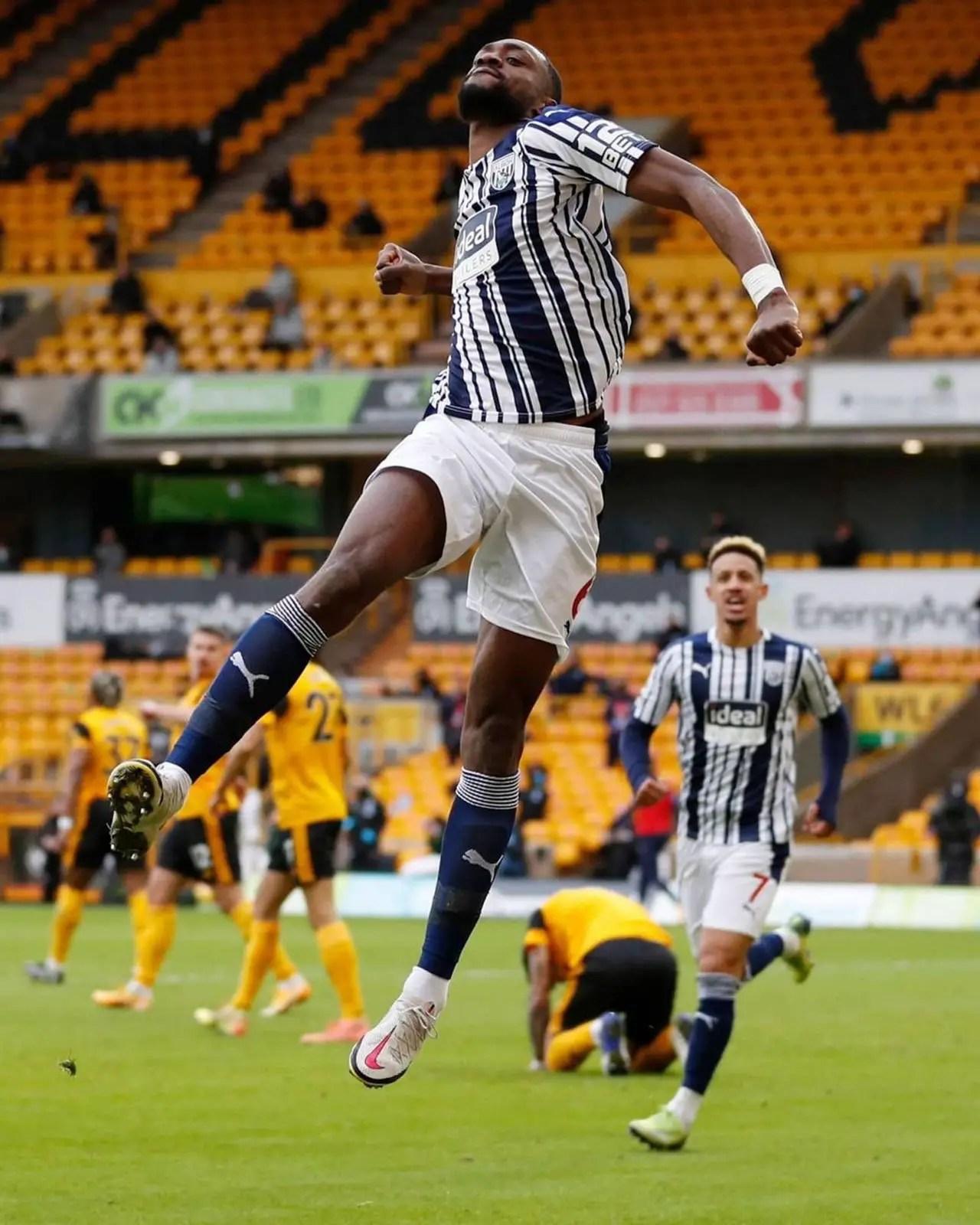 Odemwingie Celebrates Ajayi's 'Brilliant' Goal In West Brom Win Vs Wolves