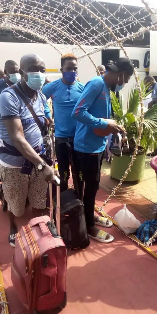 CAFCC: Rivers United Arrive Porto- Novo For Bloemfontein Celtic Clash