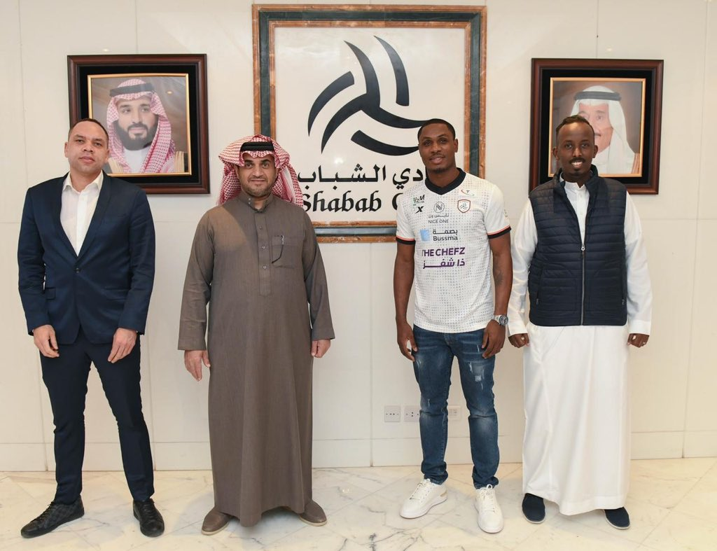 Ighalo Celebrates Al Shabab Move; Pictured In Training With New Club