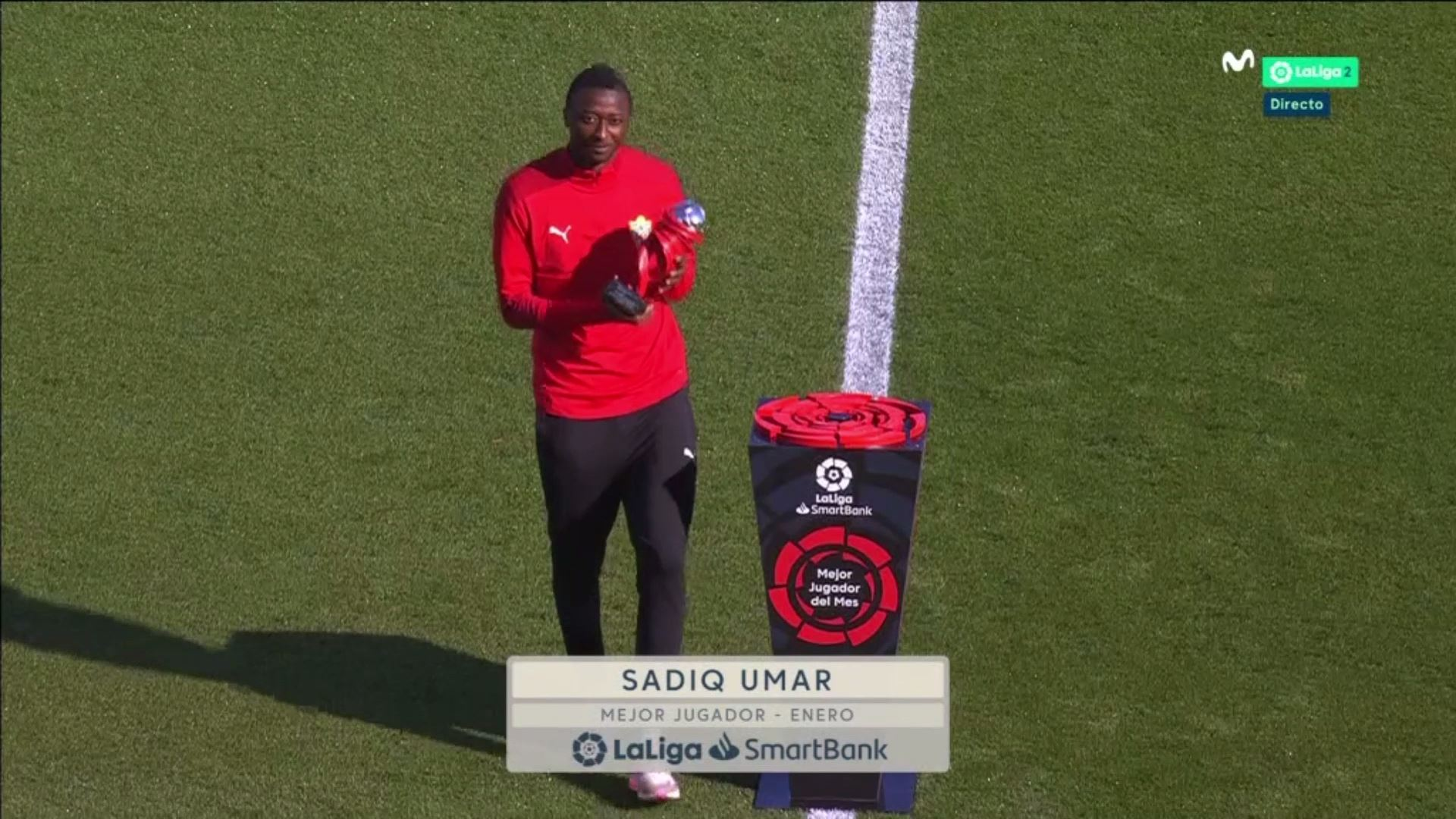 Sadiq Collects LaLiga SmartBank's January Player of the Month