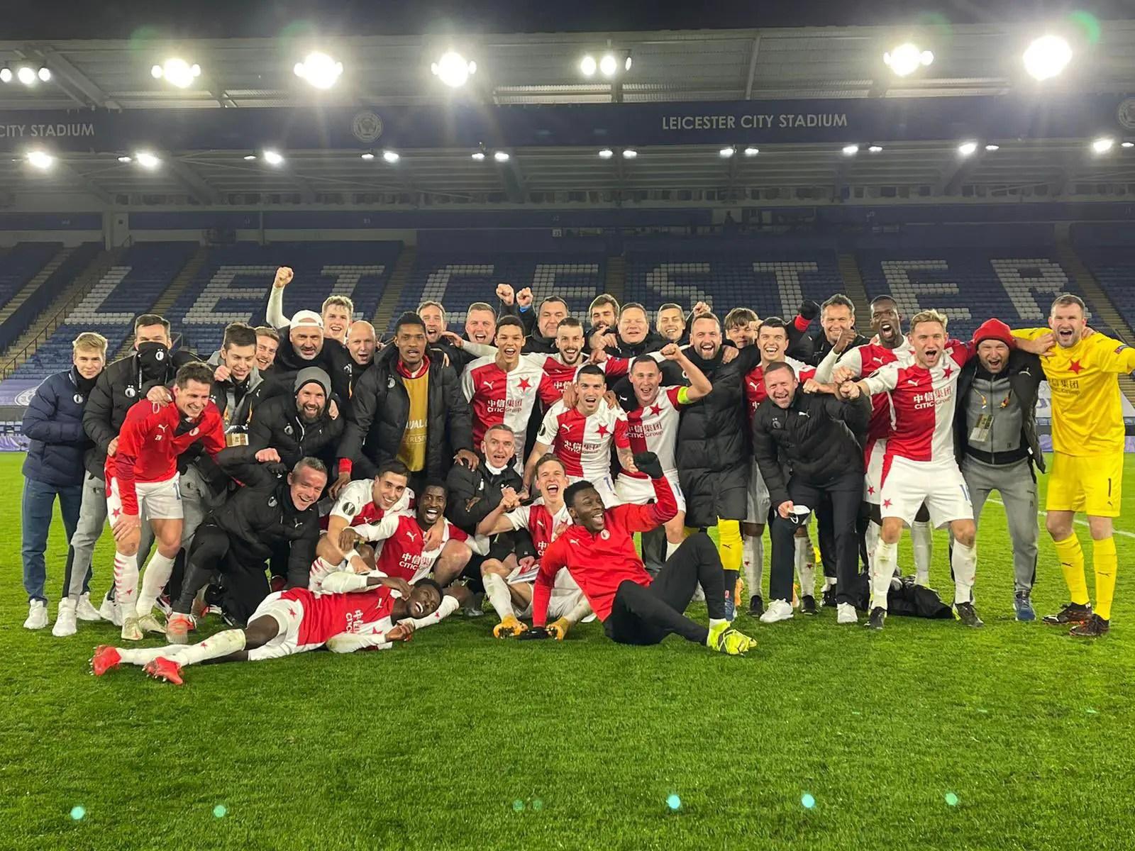 Olayinka Relishes Slavia Prague's Europa League Win Vs Leicester