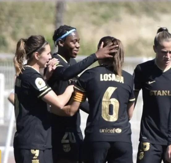 Oshoala, Barca Teammates Crowned Spanish Women's League Champions