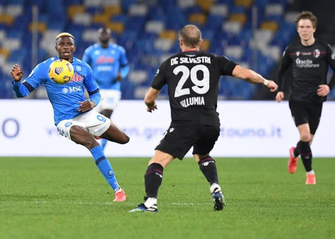 Serie A: Osimhen Scores For Napoli On  Return From Head Injury