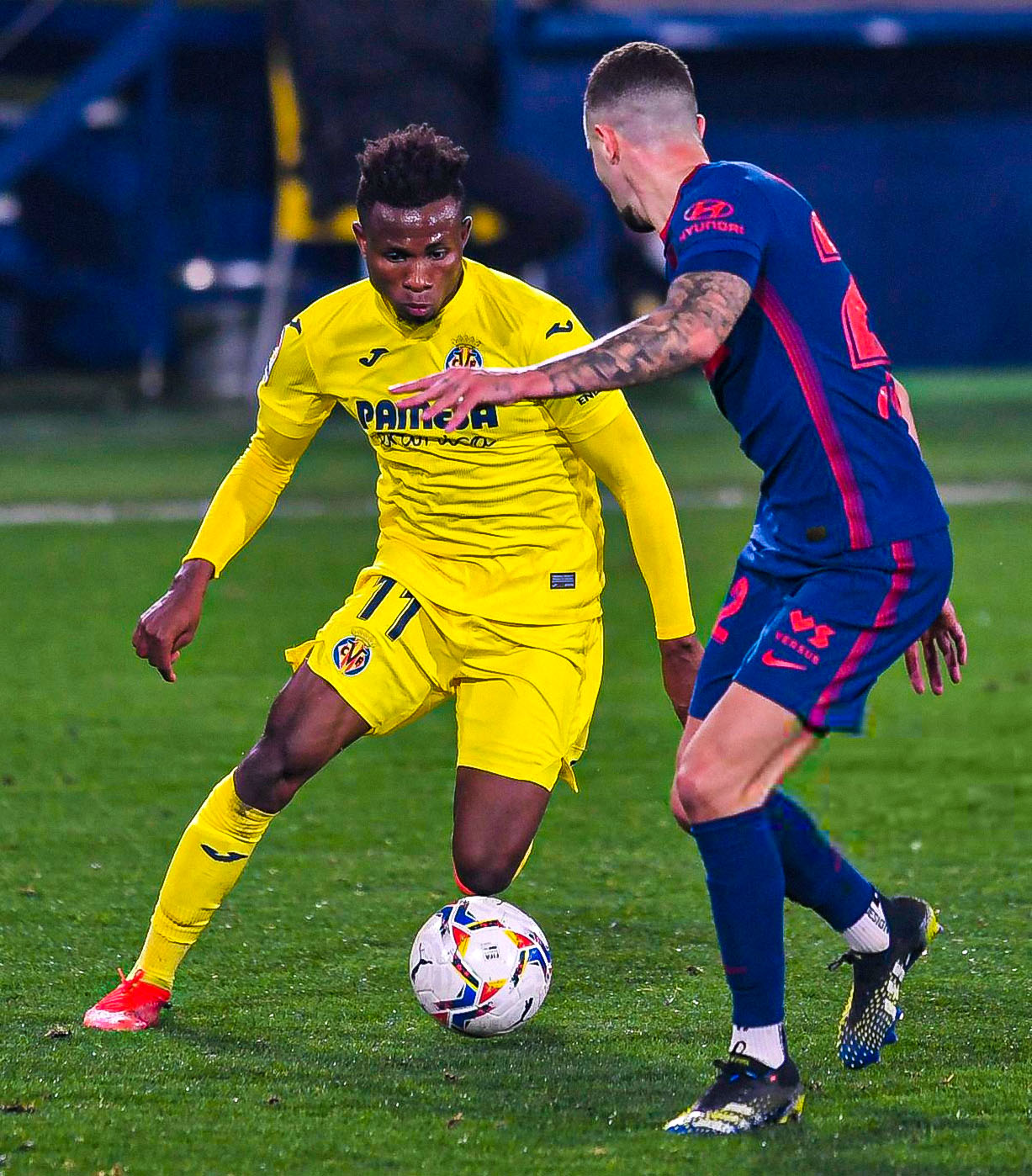 Chukwueze Named Man Of The Match In Villarreal's Home Loss  To Atletico Madrid