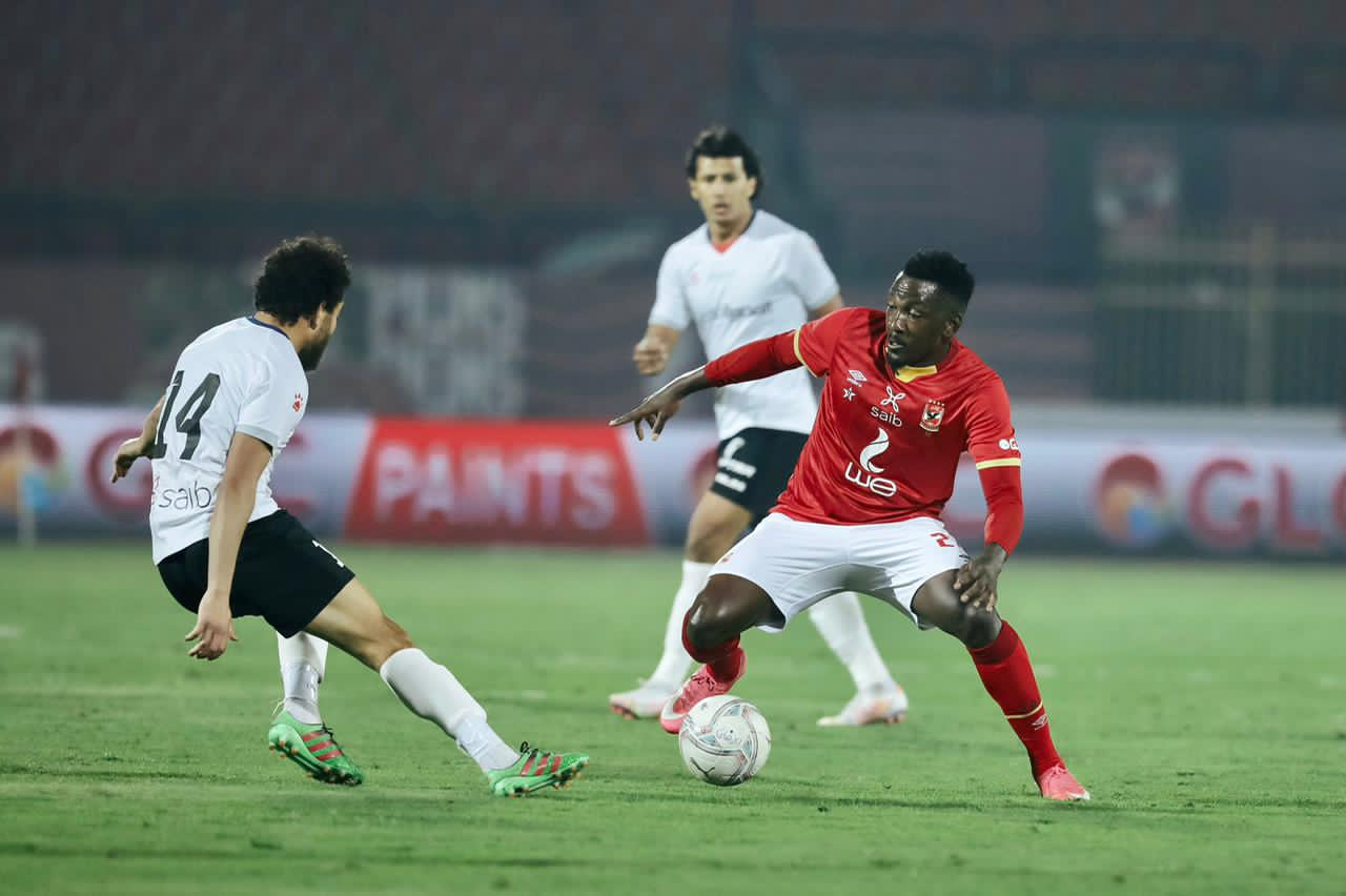 Ajayi Celebrates Al Ahly's Win Vs El- Gaish