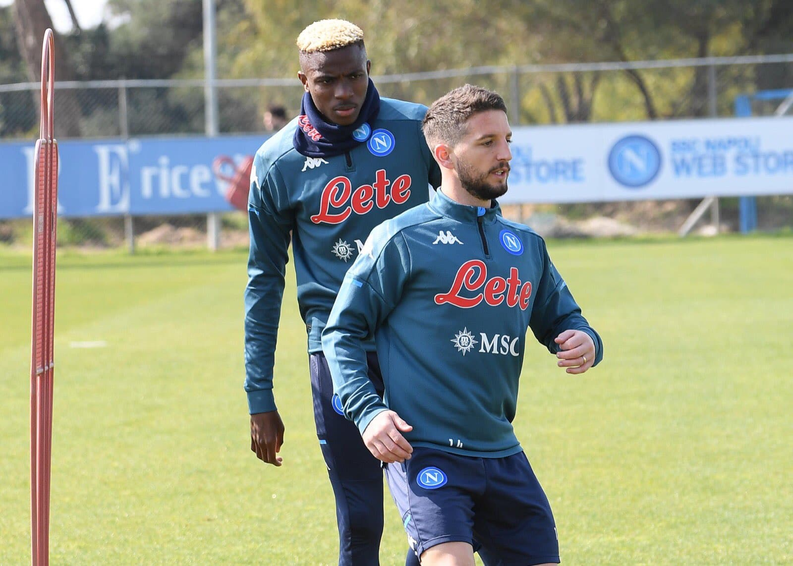 Napoli Injury Boost: Osimhen  Trains Again With Rest Of The Group Ahead Bologna Clash