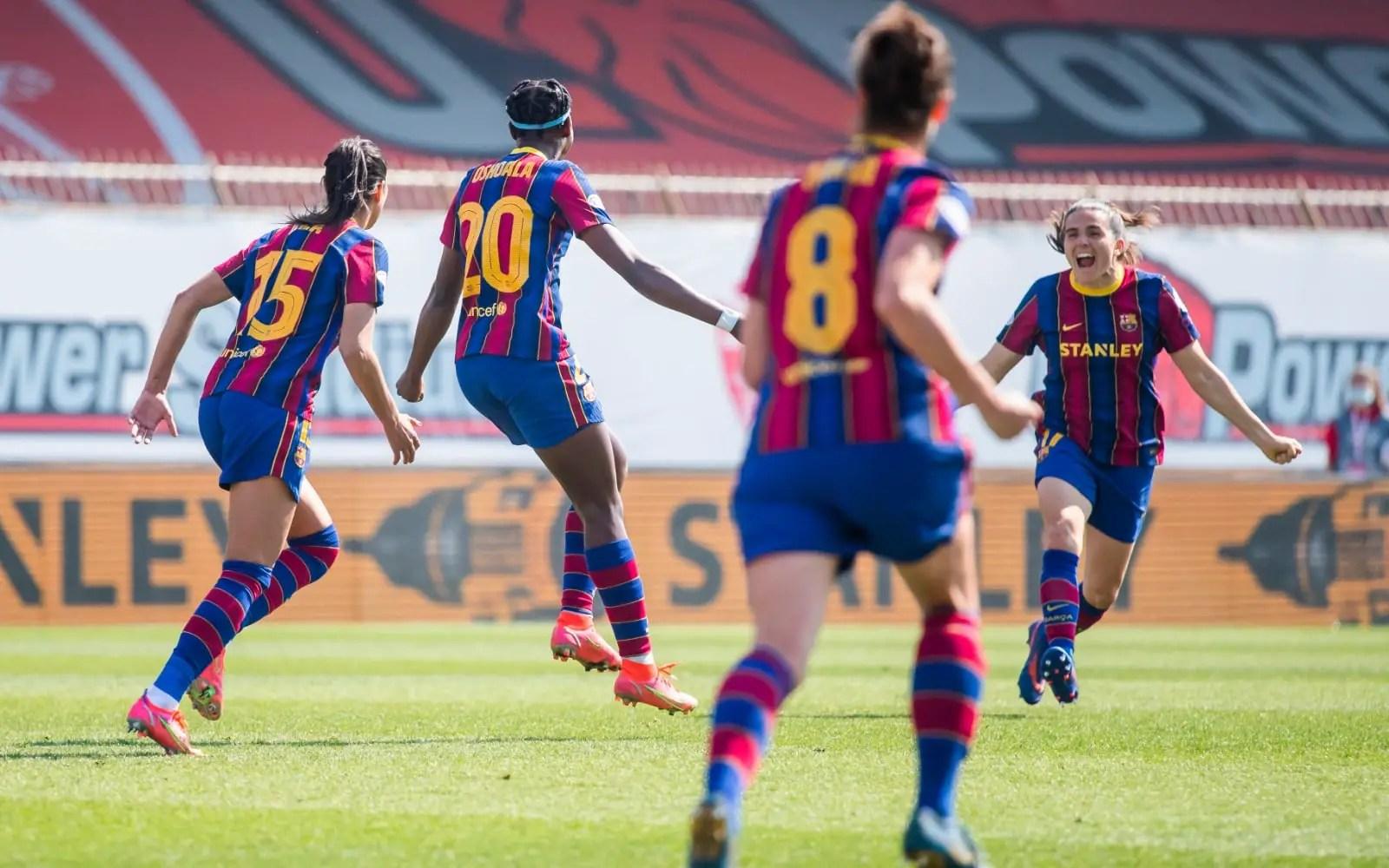 Women's UCL Q/Finals: Oshoala Scores Vs Man City As Barca Claim Comfortable First-Leg Win