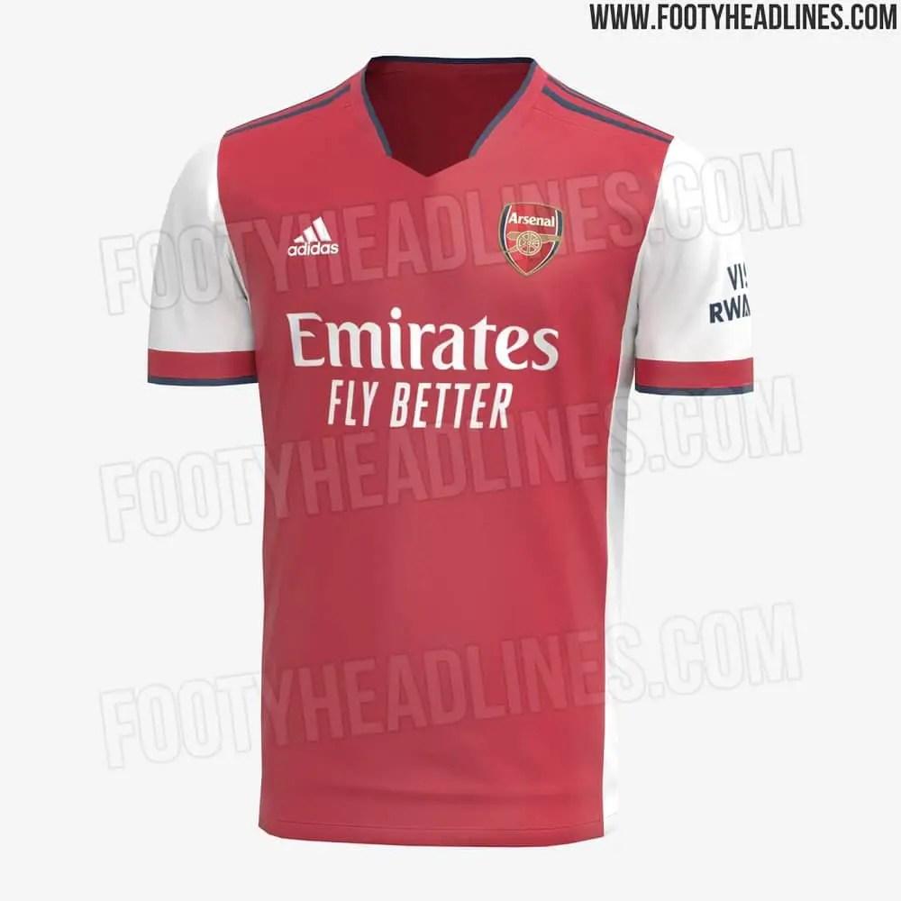 Arsenal's New Home Kit For Next Season Leaked Online