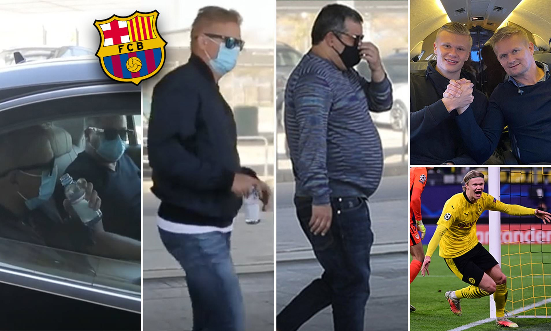 Haaland's Father, Agent Land In Barcelona For £154m Transfer Talks