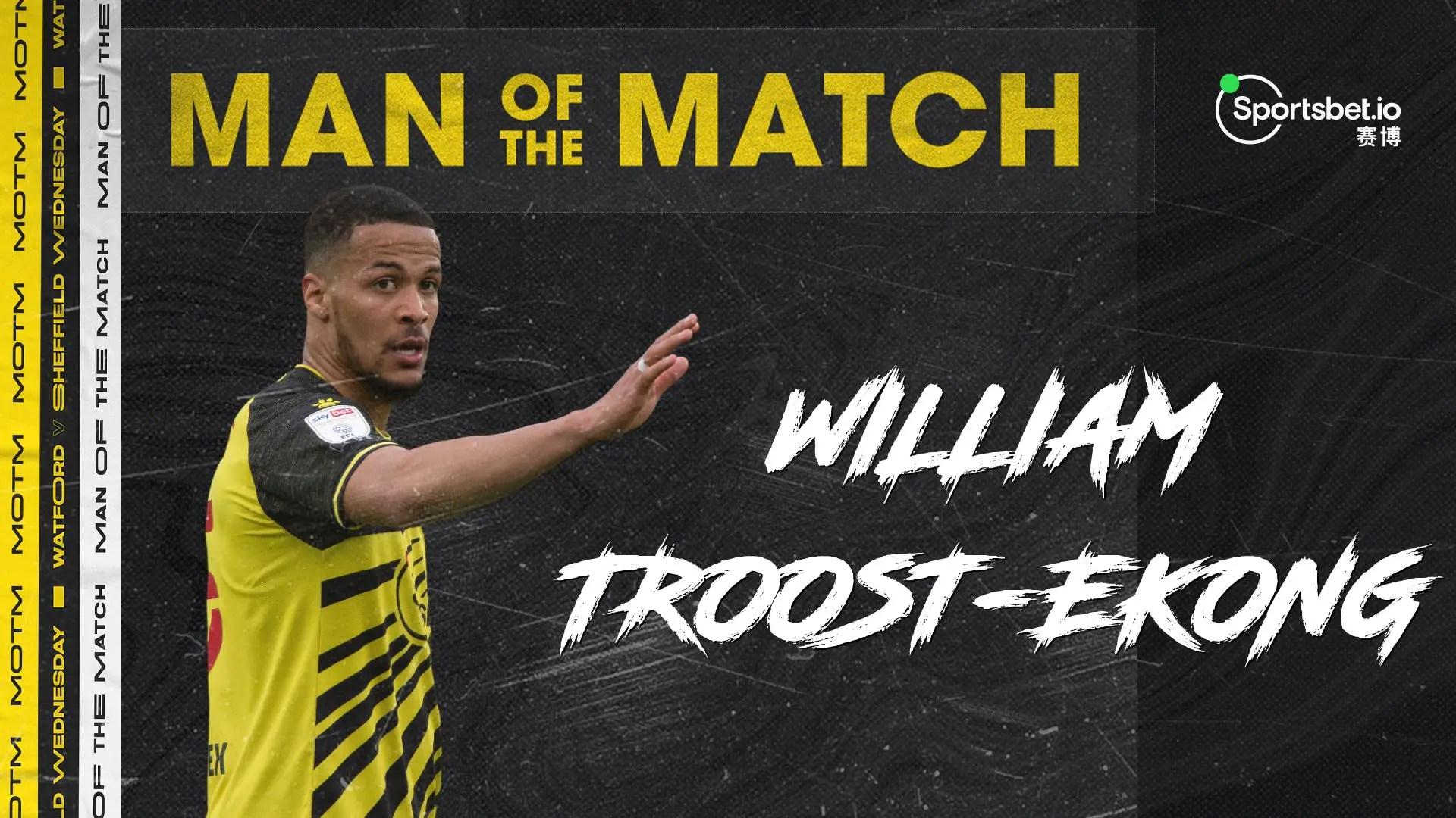 Troost-Ekong Voted Watford's MOTM Vs Sheffield Wednesday