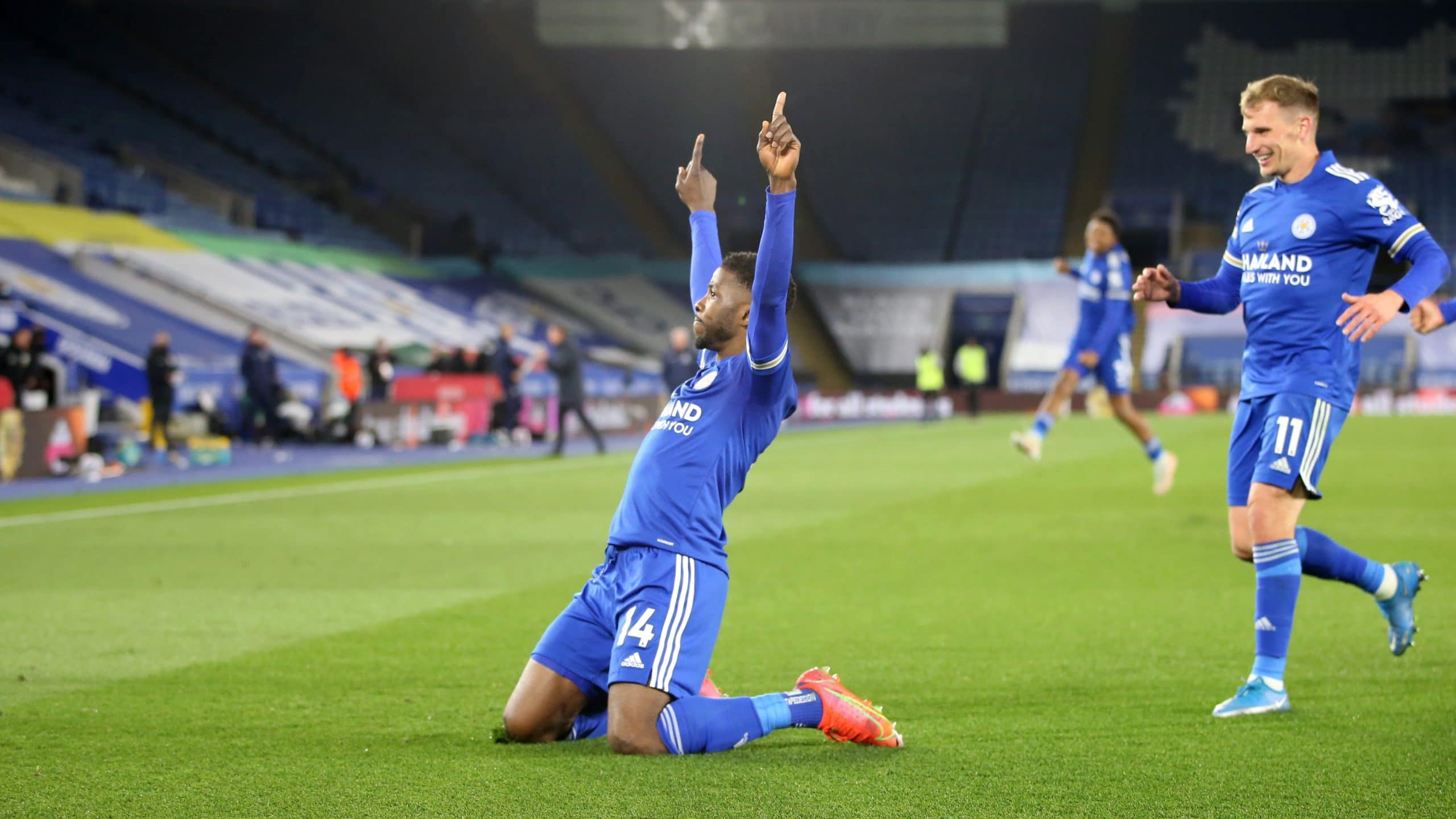 'We Want  Kelechi's Statue'- Leicester City Fans Hail Iheanacho Stunner In Win Vs Palace