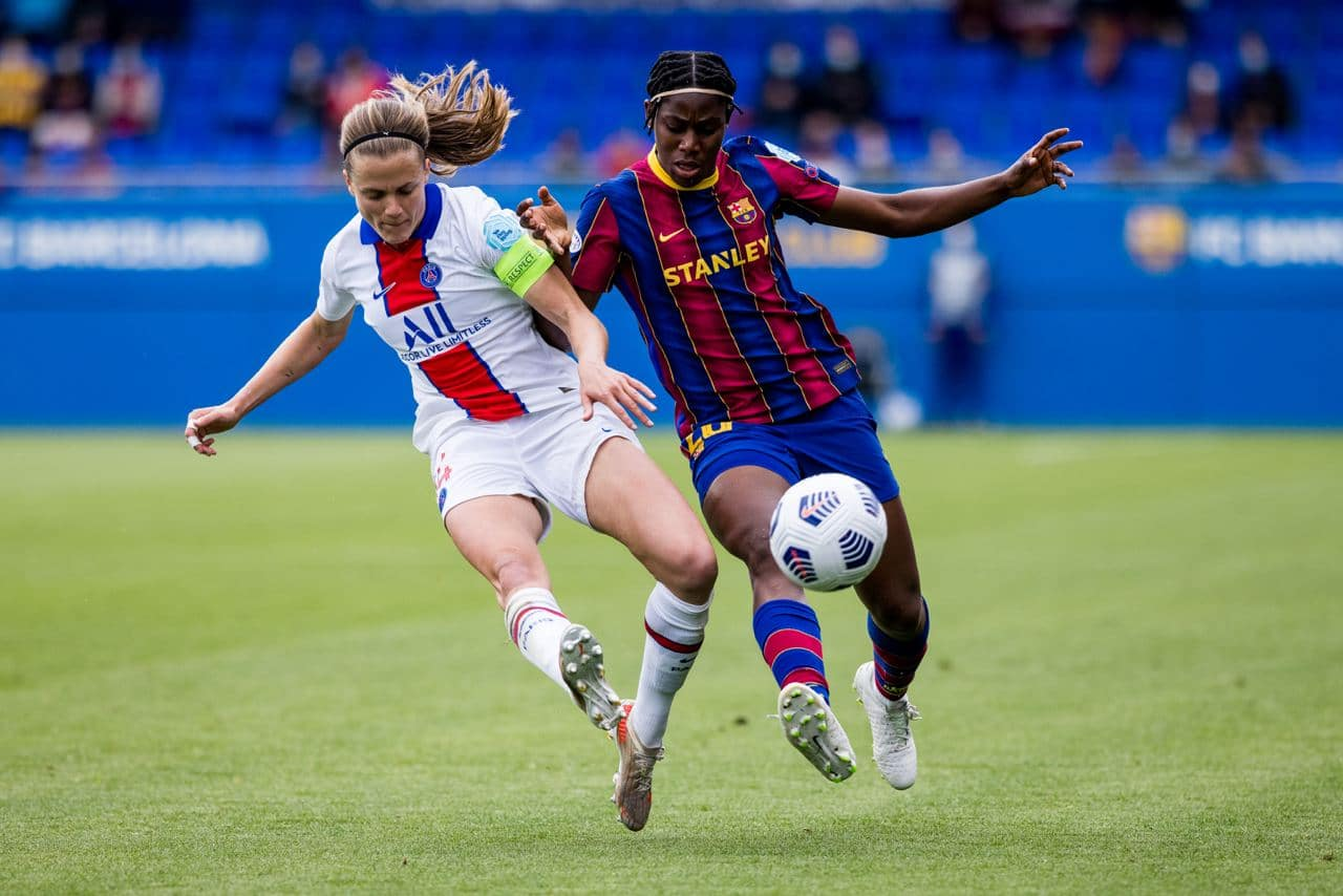 Oshoala Helps Barca Ladies Qualify For Women's UCL Final After Win Vs PSG