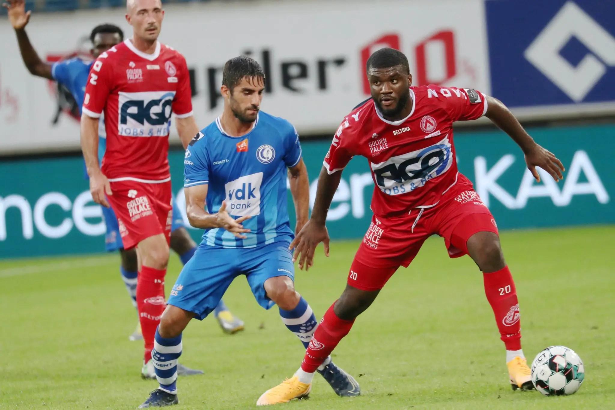 Belgian Club Kortrijk Celebrate Moffi's First Super Eagles Call Up