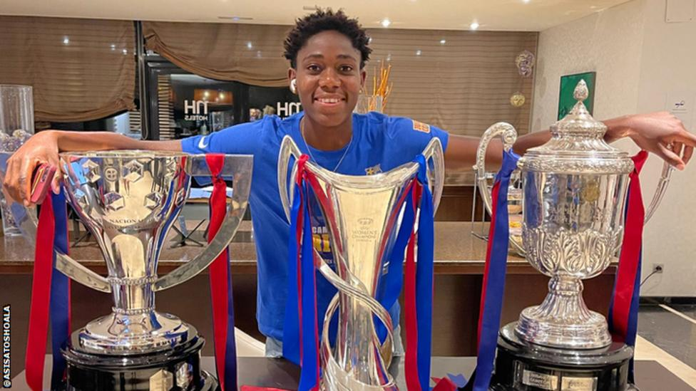 Oshoala Keen To Win More Trophies With Barcelona
