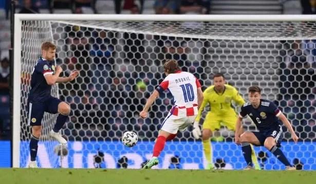 Euro 2020: Modric Nets Wonder Goal As Croatia Outclass Scotland To Qualify For Rd Of 16