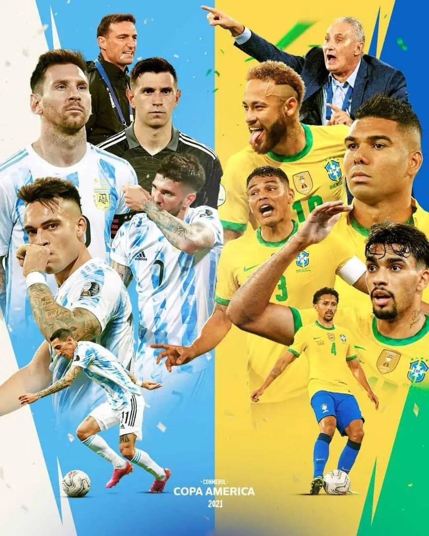 Argentina Target 15th Title, Brazil  Seek 10th  In Crack Copa America 2021 Final