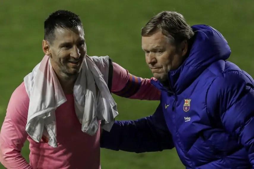 Lionel Messi Won't  Leave Barcelona -Koeman