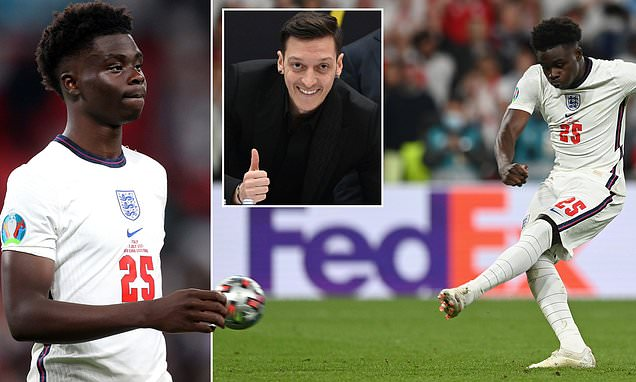 Saka Has Great Courage To Have Shouldered England's Final Penalty Kick -Ozil