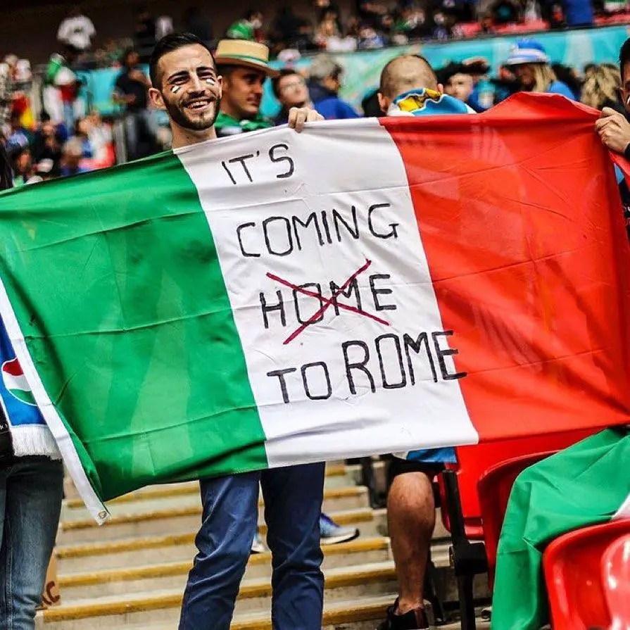 Female Italian Fan Go Topless To Celebrate Euro 2020 Win