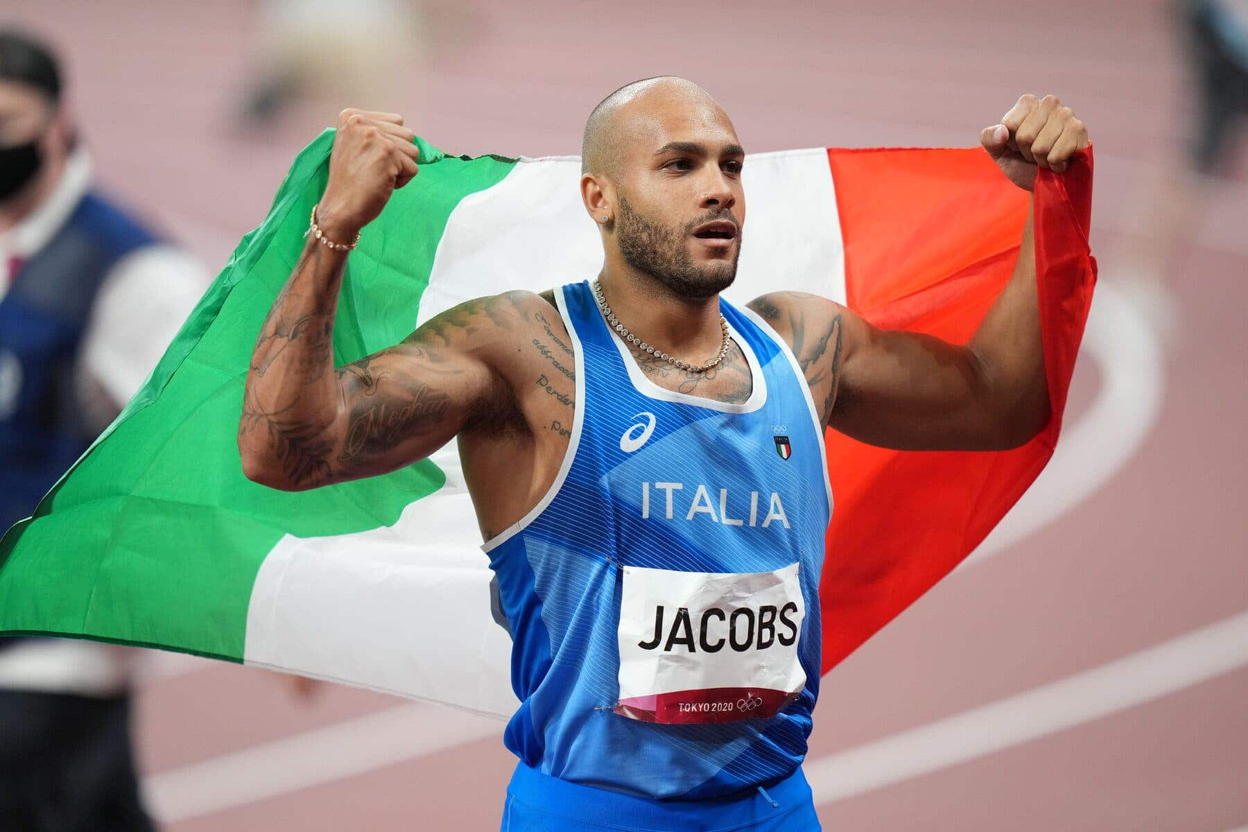 Tokyo 2020: Adegoke Suffers Injury As Italy's Jacobs Claims Shock Men's 100m Final Gold