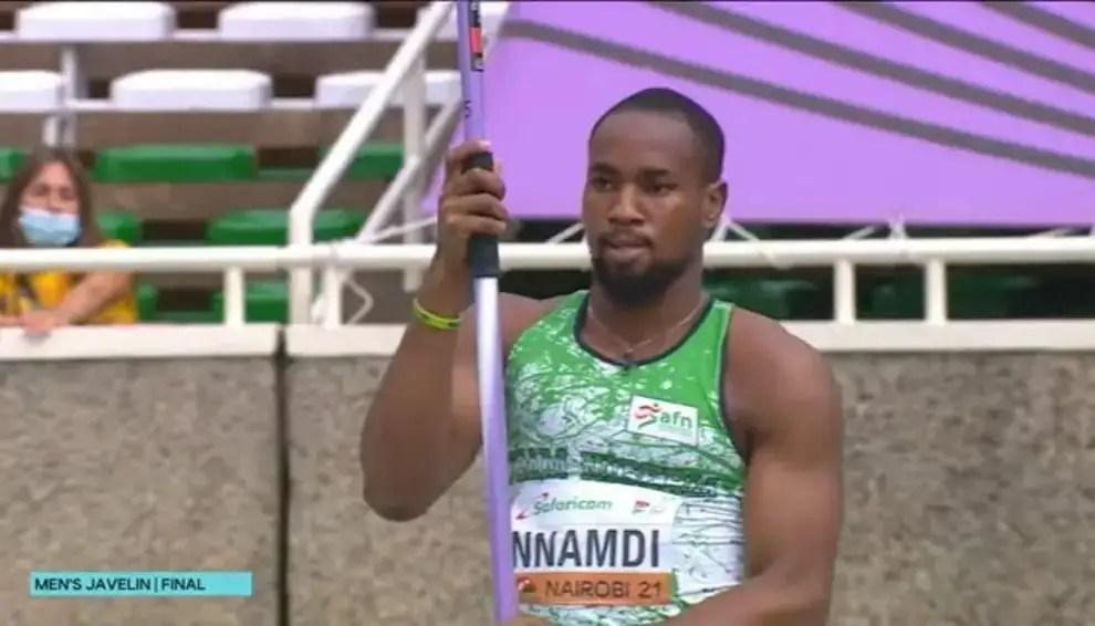Nnamdi Wins First Javeline Medal For Nigeria At World Athletics U-20 Championships