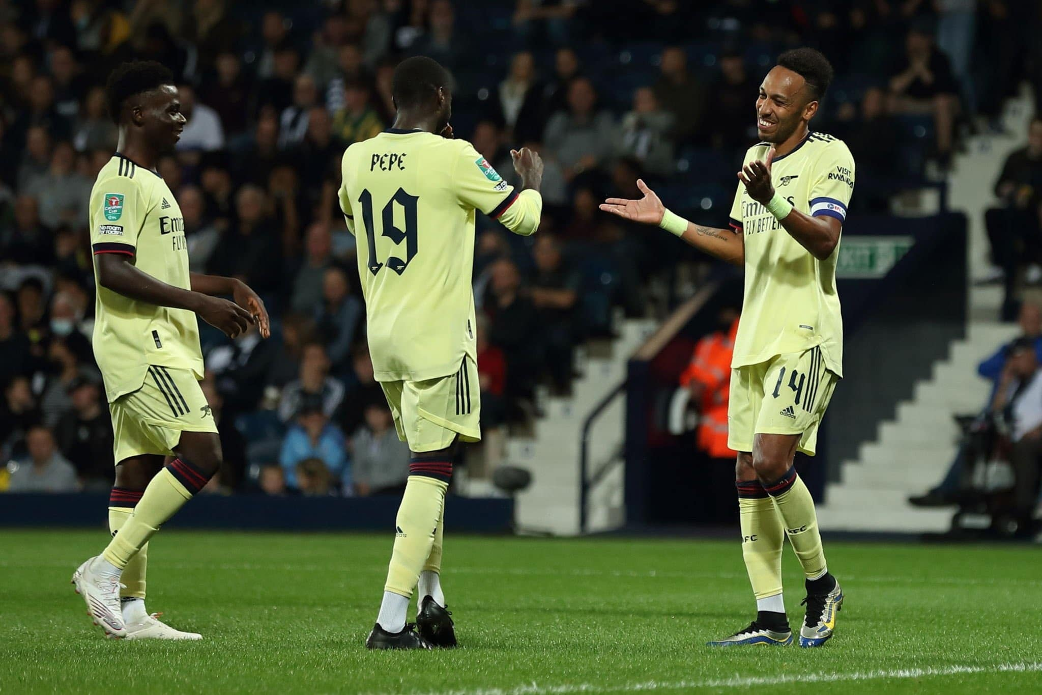 Carabao Cup: Aubameyang Bags Hat-trick As Struggling Arsenal Thrash Ajayi's West Brom 6-0
