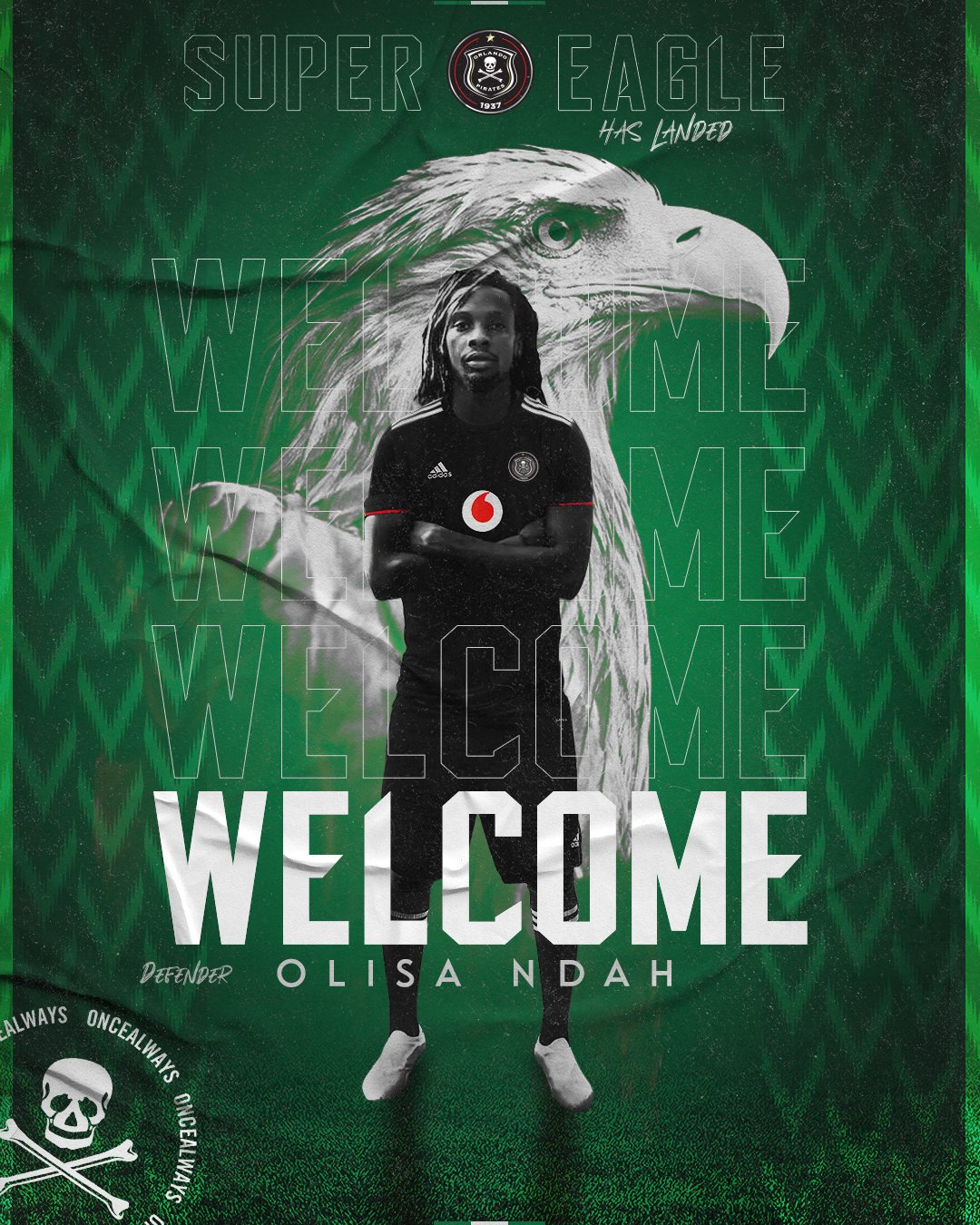 OFFICIAL: Ndah Departs Akwa United For Orlando Pirates On Three-Year Deal