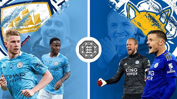 Community Shield Title Up For Grabs As Man City, Leicester City Set Wembley Agog