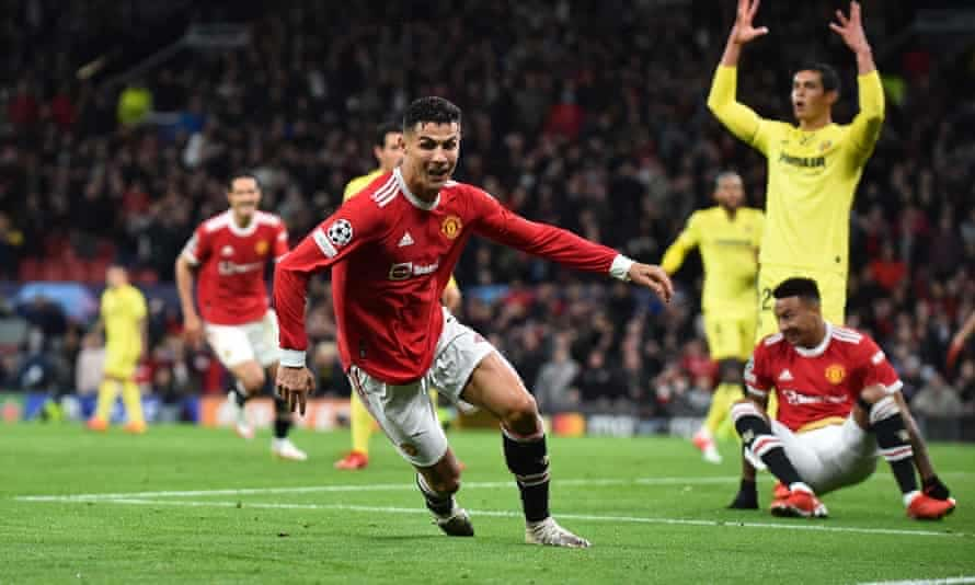 UCL: Ronaldo's Late Strike Seals Comeback Win For Man United Against Villarreal; Chelsea, Barca Lose