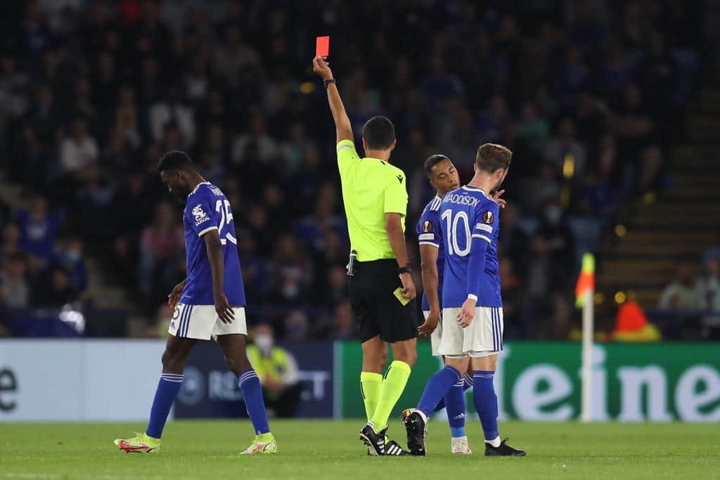 Europa: Rodgers Blasts Referee Over Ndidi's Red Card