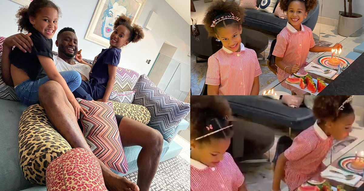 Mikel Celebrates Twin Daughters As They Turn 6 Today