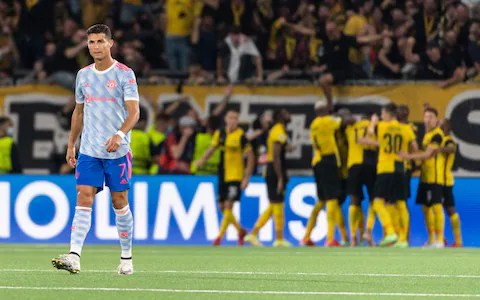 Ronaldo Reacts To Man United's Shock Defeat To Young Boys