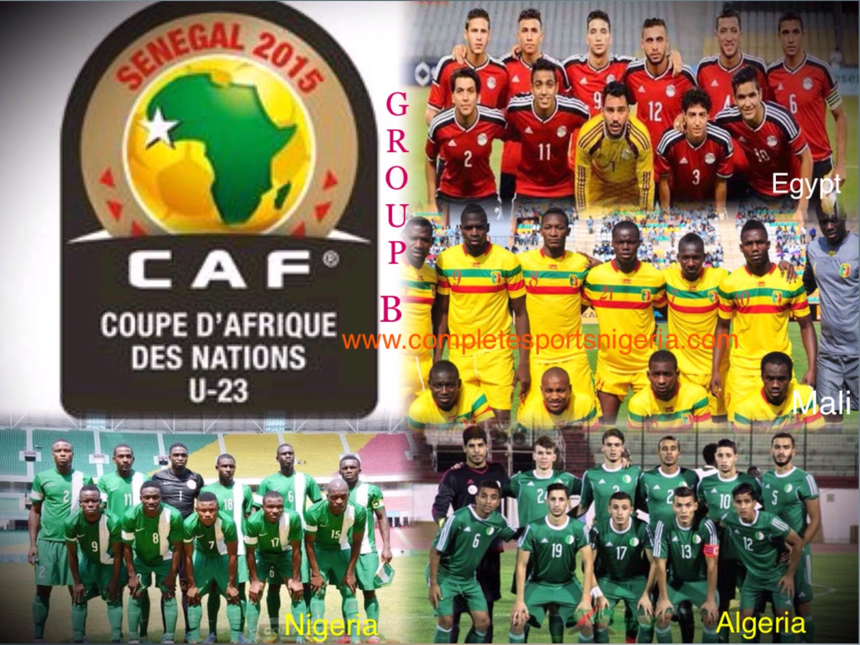 2015 CAF U-23 AFCON: NIGERIA, 7 OTHERS BATTLE FOR OLYMPIC TICKETS