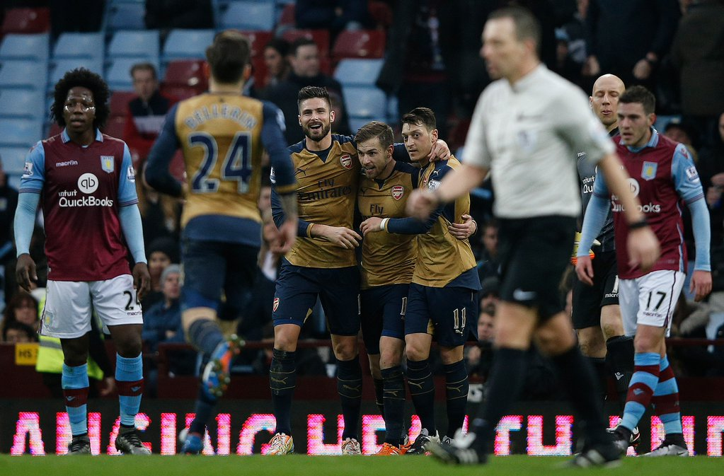 Arsenal Go Top Of EPL After Victory Over Villa