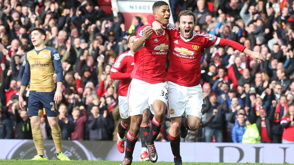 Man United's Rashford Grabs Brace To Dent Arsenal's Title Hopes