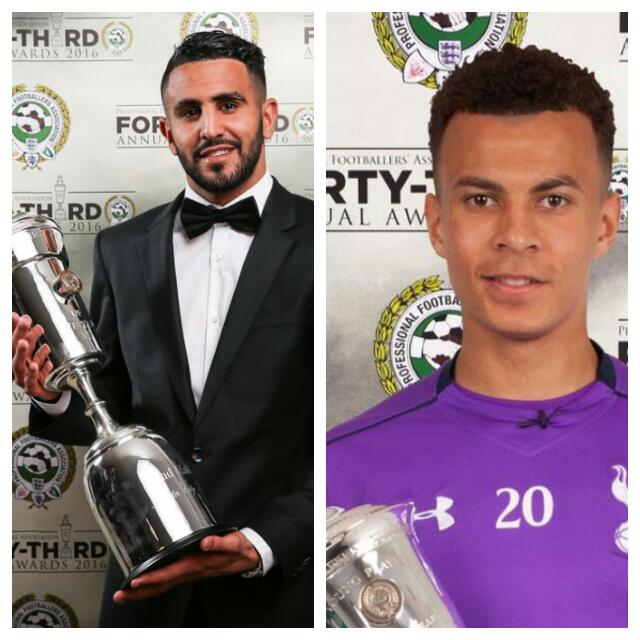 Mahrez, Alli  Win Player, Young Player Of The Year Awards