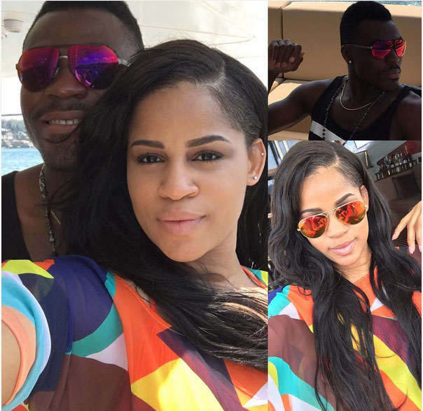 """Emenike Shows Off His """"Special One"""", Ex-Miss Nigeria"""